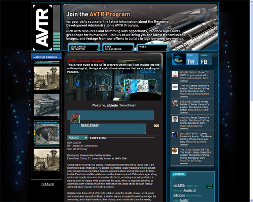 Screenshot der Viral-Seite AVTR.com