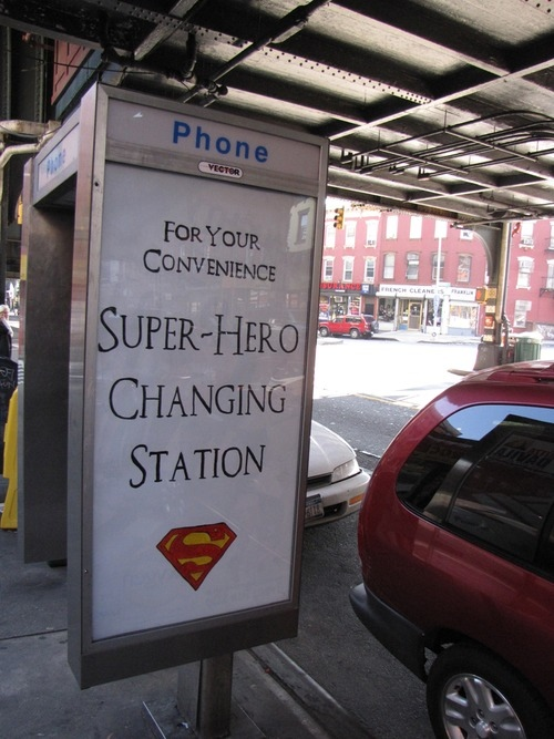 super hero changing station