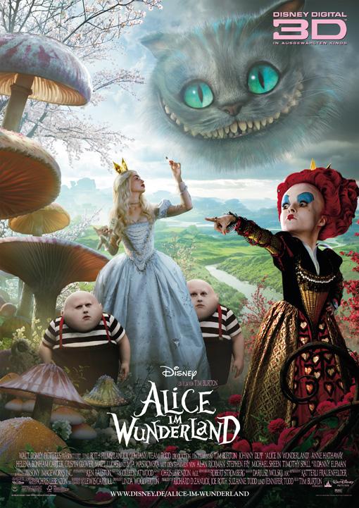 Alice im Wunderland- deutsches Teaserplakat 3D- 2