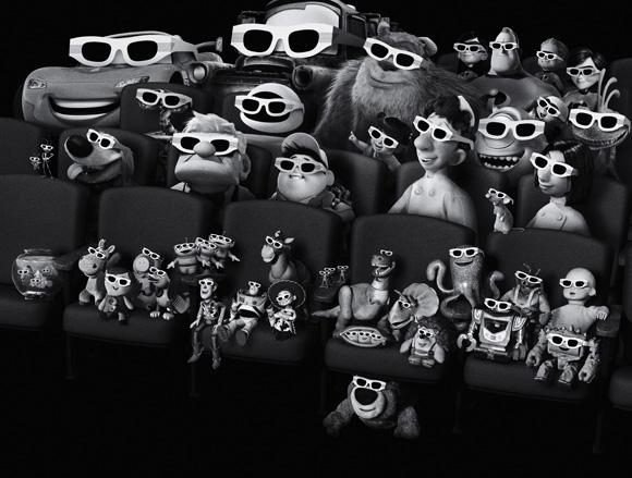 Alle Pixar-Helden freuen sich bereits auf die 3D-ReReleases.