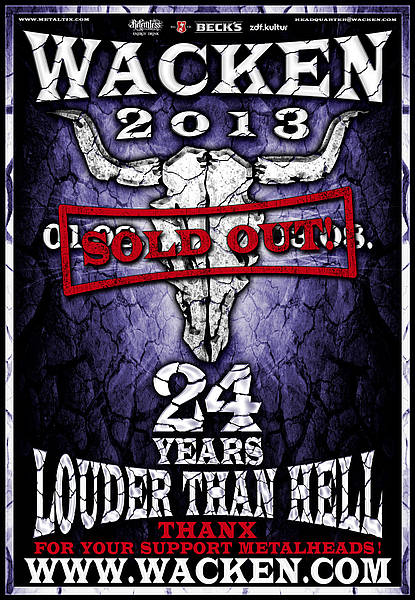 Plakat - Wacken Louder than Hell