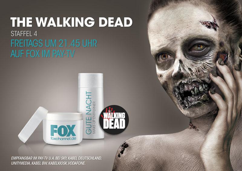 """Zombie-Apokalypse in der U-Bahn: SAINT ELMO'S Berlin entwickelt fŸr  Seriensender Fox """"The Walking Dead""""- Metroboards, die sich von selbst zombifizieren"""