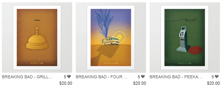 Art Prints by Zsutti   - Breaking Bad