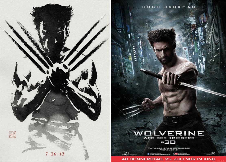 Wolverine- Weg des Kriegers- Postervergleich