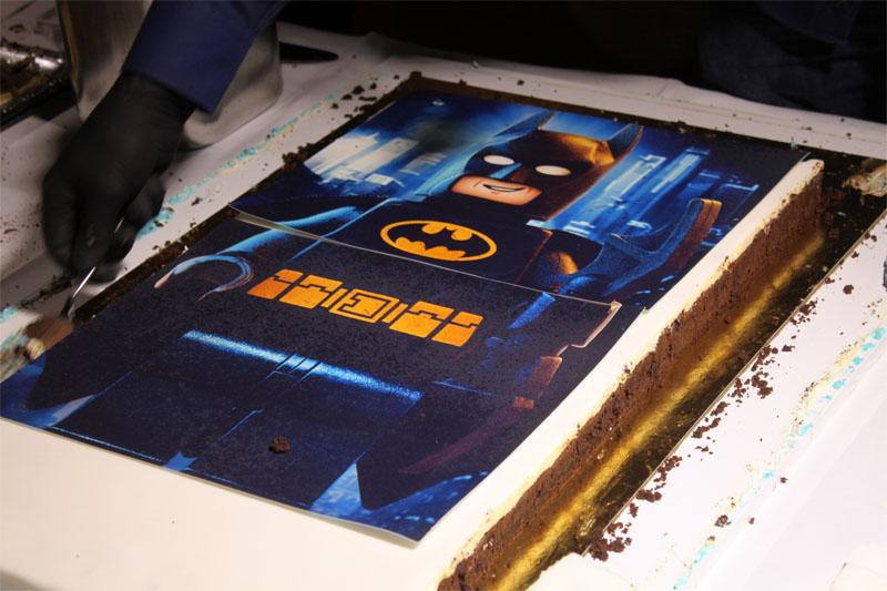 Kuchen Essen mit Batman