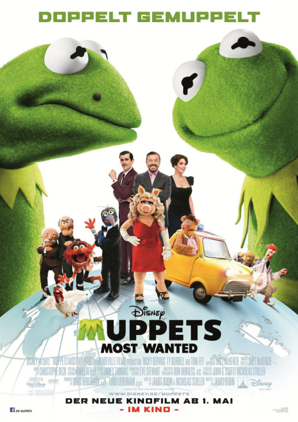 Muppets Most Wanted -Poster